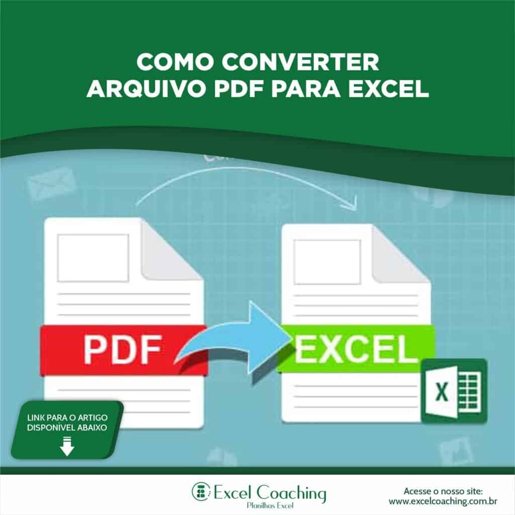 Transformar PDF em Excel