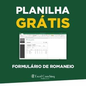 Planilha Gratis Formulário de Romaneio