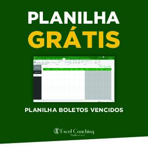 Planilha Grátis Boletos Vencidos Excel
