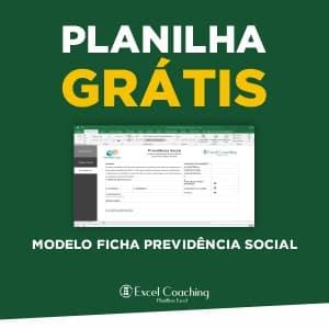 Planilha Grátis Modelo Ficha Previdência Social Excel