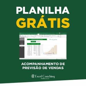 Planilha Grátis Acompanhamento de Previsão de Vendas Excel