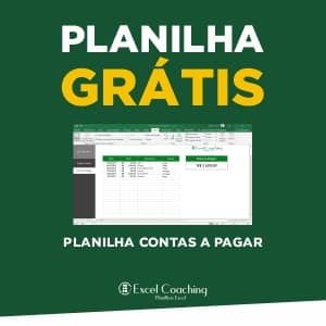 Planilha Grátis Contas a Pagar Excel