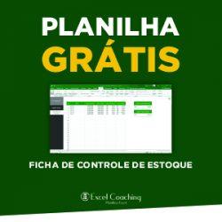 Planilha Grátis Ficha de Controle de Estoque Excel