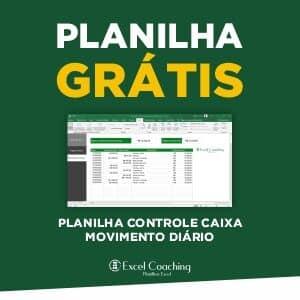 Planilha Grátis Controle Caixa Movimento Diário Excel