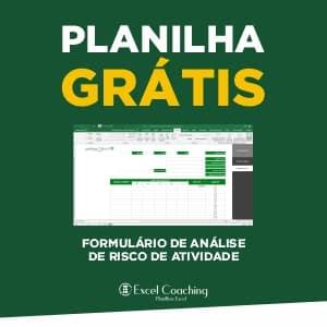 Planilha Grátis Formulário de Análise Risco de Atividade Excel