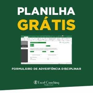 Planilha Grátis Formulário de Advertência Disciplinar Excel