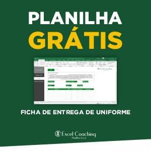 Planilha Grátis Ficha de entrega de uniforme em Excel