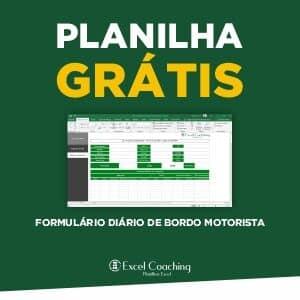 Planilha Grátis Formulário Diario de Bordo Motorista em Excel