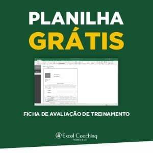 Formulário de Avaliação de Treinamento Planilha Grátis