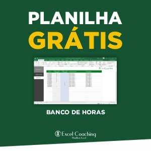 Planilha Banco de Horas Compensação em Excel Grátis