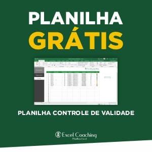 Planilha Controle de Validade Grátis em Excel