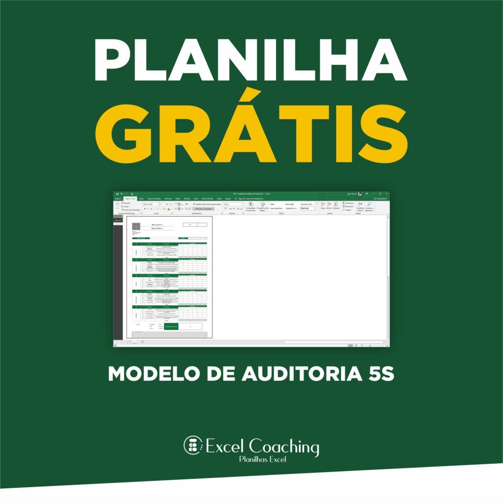 Planilha Modelo de Auditoria 5S Grátis
