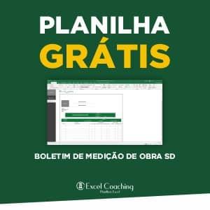 Planilha Boletim de Medição de Obra SD Grátis
