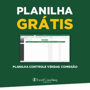Planilha Controle Vendas Comissão