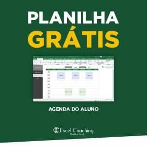 Planilha Agenda do aluno Grátis em Excel