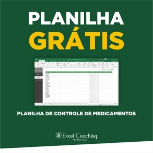 Planilha de Controle de Medicamentos Gratis em Excel