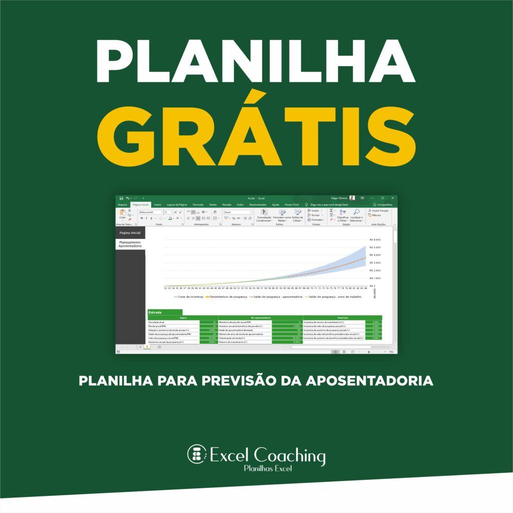 Planilha para previsão da aposentadoria Grátis em Excel