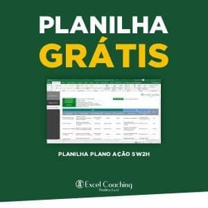 Planilha plano ação 5W2H Gratis em Excel