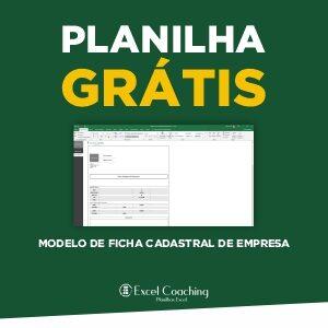 Planilha Modelo de Ficha Cadastral de Empresa Grátis