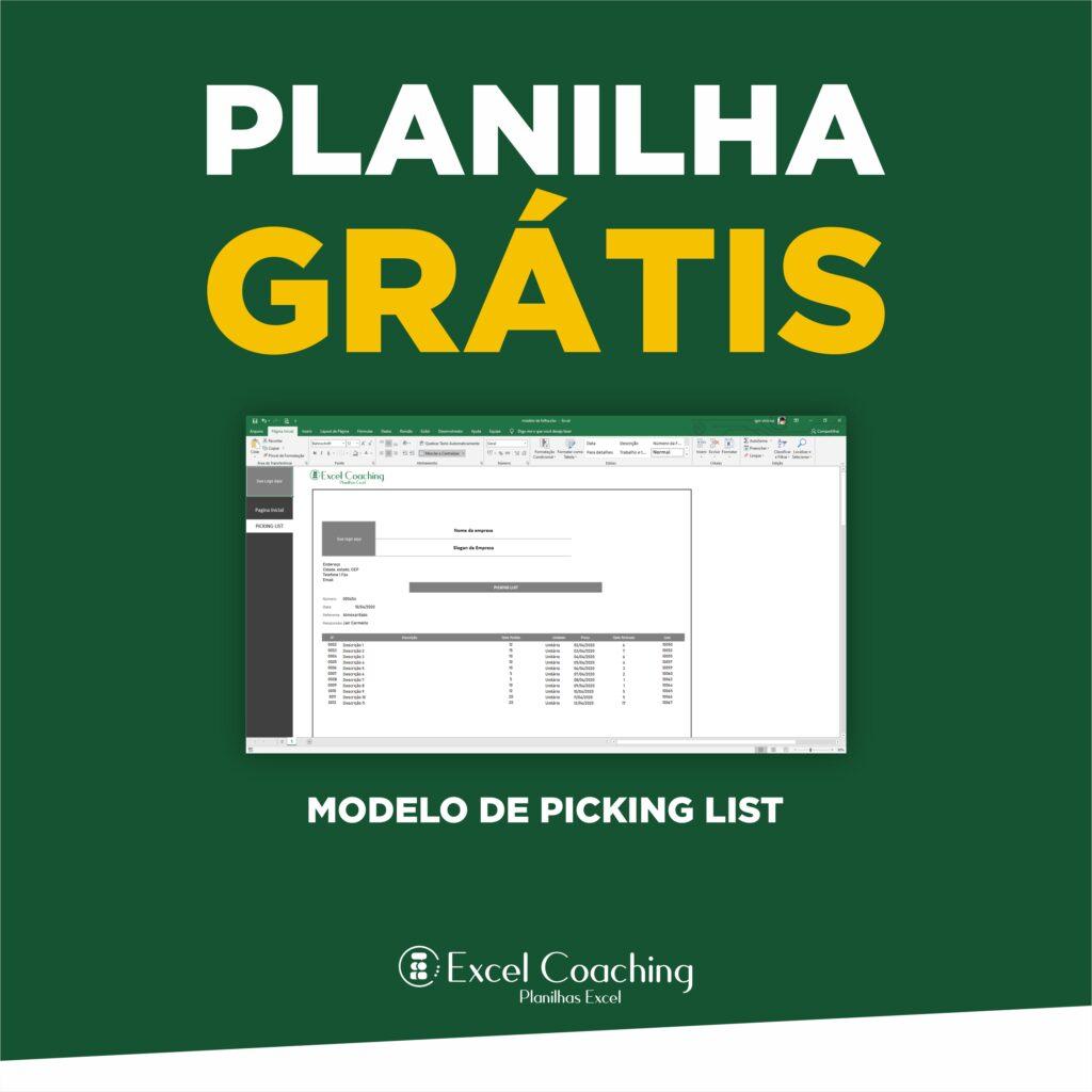 Planilha Modelo de Picking List Gratis em Excel
