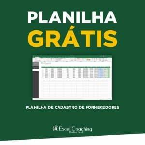 Planilha Cadastro de Fornecedores Gratis em Excel